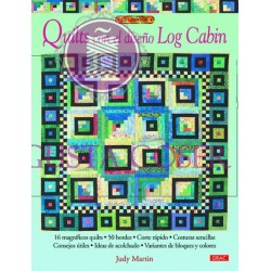 Quilts con el diseno de log cabin