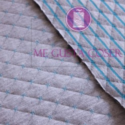 Punto acolchado gris y turquesa 15,90€/m