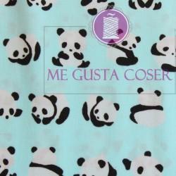 Tela Oso panda celeste