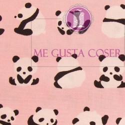 Algodon Oso panda rosa 12,90€/m