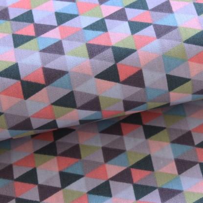 Algodón triángulos multicolor