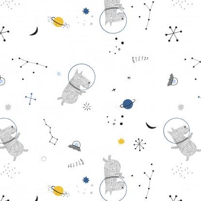 Popelin White Cosmos