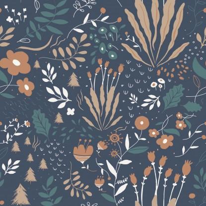 Popelin katia Wild Flowers