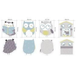 Tela jersey Owl Panel