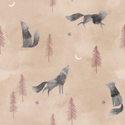 Tela popelin Wolf Howl