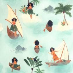 Tela Popelín Polynesian Seafarers