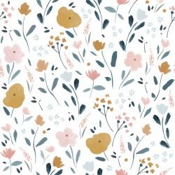 Tela popelin Little Rat Flowers