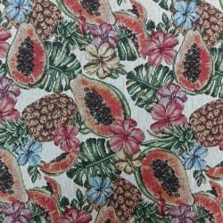Tela tapicería tropical