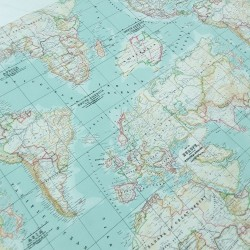 Popelín mapamundi