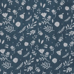 Tela Denim Aladin Flowers