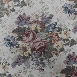 Tela tapicería Flores cretona
